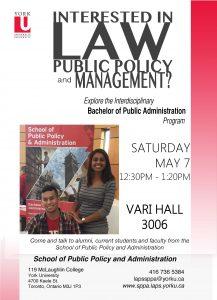 May 7 Open House @ Vari Hall 3006 at York University