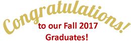 Congratulations to our Fall 2017 Graduates!