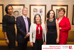 From left to right: Aretha Constant, Irwin Elman, MPP Sophie Kiwala, Alena Kimakova and Julia Deans