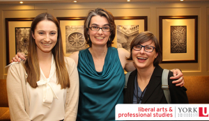 Graduate Program Director Dagmar Soennecken in the centre with MPPAL students Jocelyn McCauley (left) and Lisa Druchok (right)