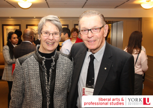 Professor Brenda Spotton Visano with President Emeritus Ian Macdonald
