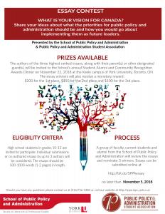Essay contest 2018 poster