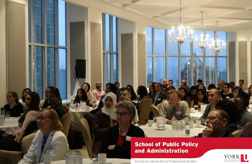 Faculty, students, alumni and special guests at the 2018 Ontario Public Service Breakfast hosted by the School of Public Policy and Administration.